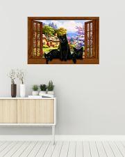 Black cat 36x24 Poster poster-landscape-36x24-lifestyle-01