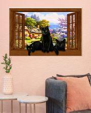 Black cat 36x24 Poster poster-landscape-36x24-lifestyle-18