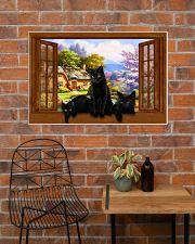 Black cat 36x24 Poster poster-landscape-36x24-lifestyle-20