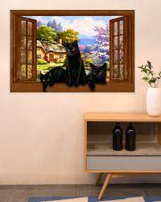 Black cat 36x24 Poster poster-landscape-36x24-lifestyle-22