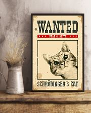 Wanted Schrodinger's Cat 11x17 Poster lifestyle-poster-3