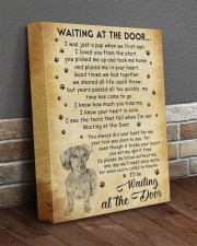 I'll be waiting at the Door Dachshund 11x14 Gallery Wrapped Canvas Prints aos-canvas-pgw-11x14-lifestyle-front-10