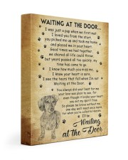 I'll be waiting at the Door Dachshund 11x14 Gallery Wrapped Canvas Prints front