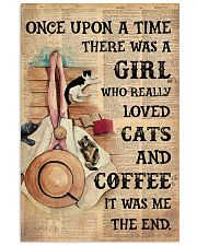Loved cats n coffee 11x17 Poster front