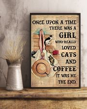 Loved cats n coffee 11x17 Poster lifestyle-poster-3