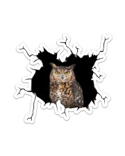Owl Crack Sticker tile