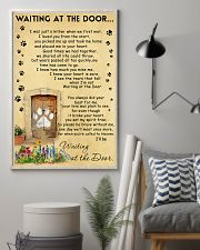 Cat Waiting At The Door - Beage color 11x17 Poster lifestyle-poster-1