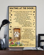 Cat Waiting At The Door - Beage color 11x17 Poster lifestyle-poster-2