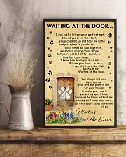 Cat Waiting At The Door - Beage color 11x17 Poster lifestyle-poster-3