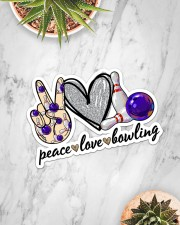 Peace Love Bowling Sticker - Single (Horizontal) aos-sticker-single-horizontal-lifestyle-front-06