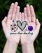 Peace Love Bowling Sticker - Single (Horizontal) aos-sticker-single-horizontal-lifestyle-front-20