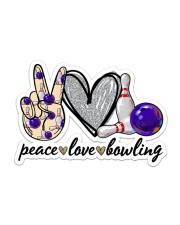 Peace Love Bowling Sticker - Single (Horizontal) front