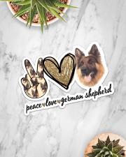 Peace Love German Shepherd Sticker - Single (Horizontal) aos-sticker-single-horizontal-lifestyle-front-06
