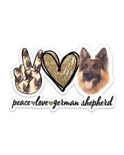 Peace Love German Shepherd Sticker - Single (Horizontal) front