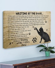 Personalized Black cat waitting at the door 30x20 Gallery Wrapped Canvas Prints aos-canvas-pgw-30x20-lifestyle-front-01