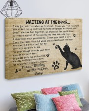 Personalized Black cat waitting at the door 30x20 Gallery Wrapped Canvas Prints aos-canvas-pgw-30x20-lifestyle-front-02