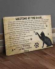 Personalized Black cat waitting at the door 30x20 Gallery Wrapped Canvas Prints aos-canvas-pgw-30x20-lifestyle-front-10