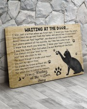 Personalized Black cat waitting at the door 30x20 Gallery Wrapped Canvas Prints aos-canvas-pgw-30x20-lifestyle-front-13