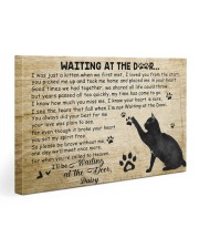 Personalized Black cat waitting at the door 30x20 Gallery Wrapped Canvas Prints front