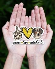 Peace Love Catahoula Sticker - Single (Horizontal) aos-sticker-single-horizontal-lifestyle-front-20