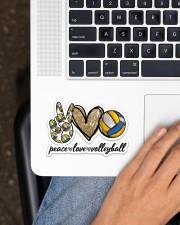 Peace Love Volleyball Sticker - Single (Horizontal) aos-sticker-single-horizontal-lifestyle-front-11