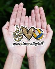 Peace Love Volleyball Sticker - Single (Horizontal) aos-sticker-single-horizontal-lifestyle-front-20