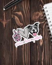 Peace Love Pitties Sticker - Single (Vertical) aos-sticker-single-vertical-lifestyle-front-05
