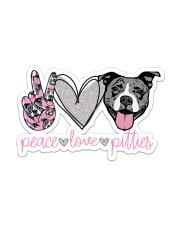 Peace Love Pitties Sticker - Single (Vertical) front