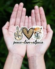 Peace Love Alpaca Sticker - Single (Horizontal) aos-sticker-single-horizontal-lifestyle-front-20