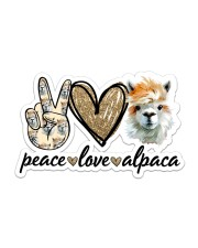 Peace Love Alpaca Sticker - Single (Horizontal) front
