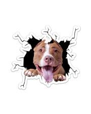 Pitbull Crack Sticker tile