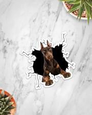 Doberman Pinscher Crack Sticker - Single (Vertical) aos-sticker-single-vertical-lifestyle-front-06