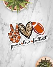 Peace Love Football Sticker - Single (Horizontal) aos-sticker-single-horizontal-lifestyle-front-06