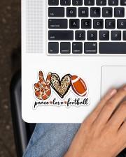 Peace Love Football Sticker - Single (Horizontal) aos-sticker-single-horizontal-lifestyle-front-11