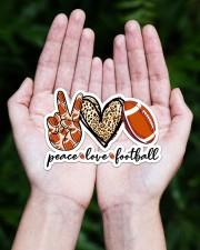 Peace Love Football Sticker - Single (Horizontal) aos-sticker-single-horizontal-lifestyle-front-20