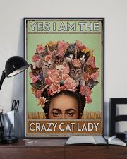 Yes I Am The Crazy Cat Lady 11x17 Poster lifestyle-poster-2