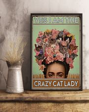 Yes I Am The Crazy Cat Lady 11x17 Poster lifestyle-poster-3