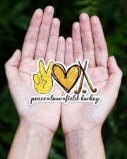 Peace Love Field Hockey Sticker - Single (Horizontal) aos-sticker-single-horizontal-lifestyle-front-20