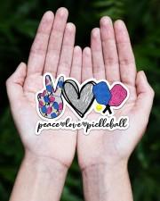 Peace Love Pickleball Sticker - Single (Horizontal) aos-sticker-single-horizontal-lifestyle-front-20