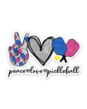 Peace Love Pickleball Sticker - Single (Horizontal) front