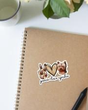 Peace love yorkie Sticker - Single (Vertical) aos-sticker-single-vertical-lifestyle-front-16