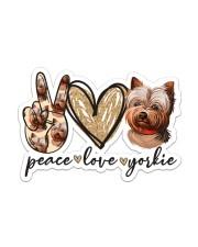 Peace love yorkie Sticker - Single (Vertical) front