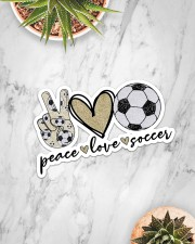 Peace Love Soccer Sticker - Single (Horizontal) aos-sticker-single-horizontal-lifestyle-front-06