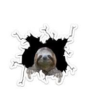 Sloth Crack Sticker - Single (Vertical) front