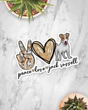 Peace love jack russell Sticker - Single (Horizontal) aos-sticker-single-horizontal-lifestyle-front-06