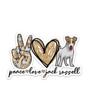 Peace love jack russell Sticker - Single (Horizontal) front