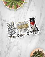 peace love collie Sticker - Single (Horizontal) aos-sticker-single-horizontal-lifestyle-front-06