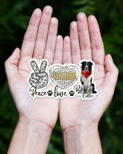 peace love collie Sticker - Single (Horizontal) aos-sticker-single-horizontal-lifestyle-front-20