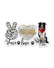peace love collie Sticker - Single (Horizontal) front