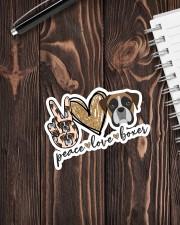 Peace love boxer Sticker - Single (Vertical) aos-sticker-single-vertical-lifestyle-front-05